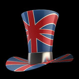 TOP hat of UK isolated on black Stock Photos
