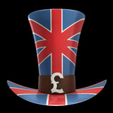 TOP hat of UK isolated on black Stock Images