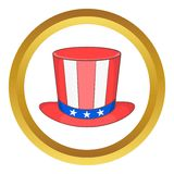 Top hat in the USA flag colors vector icon Royalty Free Stock Photo