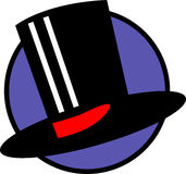 Top hat vector illustration. Vector illustration of a top hat Royalty Free Stock Image