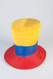 Top hat with yellow, red and blue colors Stock Images