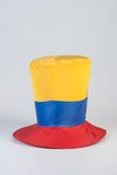 Top hat with yellow, red and blue colors Royalty Free Stock Photos