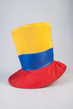 Top hat with yellow, red and blue colors Royalty Free Stock Photo