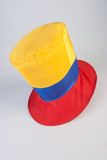 Top hat with yellow, red and blue colors Stock Photography