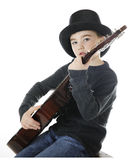 Top Hatted Guitarist Royalty Free Stock Photography