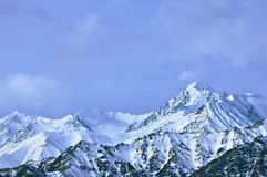 Top of High mountains, covered by snow. India stock image