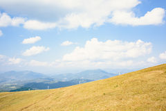 Top of the hill in Carpathian mountains Royalty Free Stock Photos