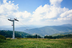 Top of the hill in Carpathian mountains Stock Photo