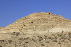 Top Hill and Upper City of Avdat, the Nabatean City Royalty Free Stock Image