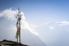 Top of Himalaya mountains in central Nepal Royalty Free Stock Photos