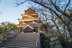 Top of Hiroshima Wooden Castle Royalty Free Stock Image