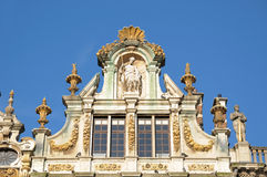 Guildhalls on Grand Place in Brussels Royalty Free Stock Images