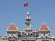 Top Ho Chi Minh City Hall. The top section of Ho Chi Minh City Hall Royalty Free Stock Photos