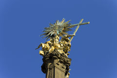 Top of the Holy Trinity Column in Olomouc Royalty Free Stock Images