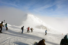 Top of Hopok mountain. Royalty Free Stock Photo