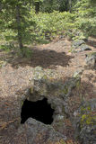 Top Hornito Hole Into Forest Cave Royalty Free Stock Photography