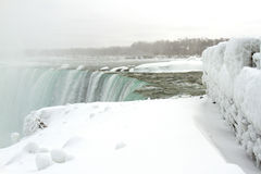 Top of Horseshoe Falls in Winter Royalty Free Stock Image
