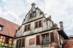 Top of a house in alsace Royalty Free Stock Photos
