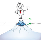 Top of the iceberg vector illustration