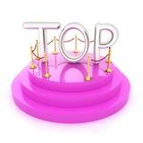 Top icon on podium on white background Royalty Free Stock Images