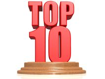 Top 10. Image with white background Royalty Free Stock Photos