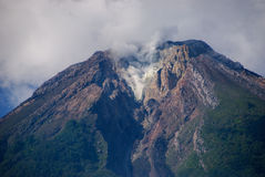 The top of Inerie volcano, Indonesia Royalty Free Stock Image