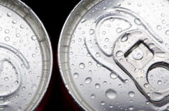 Top of an iron can. Can lid with a drink of cola. beer Stock Photos