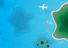 Top Island View , Aerial View. Vector Stock Photo