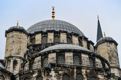 Top of an Istanbul mosque. The dome and spire of an istanbul mosque Stock Photos