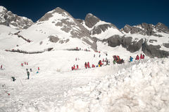 Top of Jade Dragon snow mountain in China. Stock Image