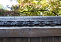 Top japonés tradicional del tejado Foto de archivo libre de regalías