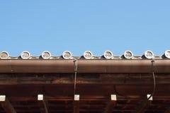 Top japonés tradicional del tejado Fotografía de archivo libre de regalías