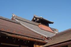 Top japonés tradicional del tejado Fotos de archivo libres de regalías