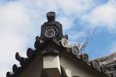 Top japonés tradicional del tejado Fotografía de archivo