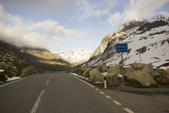 Top of the Julier Pass Royalty Free Stock Images