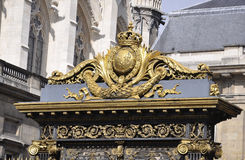 Top of the Justice Palace Gate from Paris in France Royalty Free Stock Photography