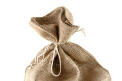 Top of jute bag Royalty Free Stock Photography