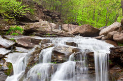 Top of Kaaterskill Falls. Top of the Kaaterskill Falls in spring located in Catskill New York stock photos