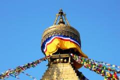 Stupa in Kathmandu. A top of Kathmandu stupa Royalty Free Stock Photo