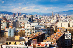 Top kind of Barcelona from Montjuic Stock Photo