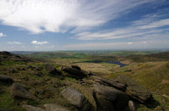 On top of Kinder Scout Stock Photography