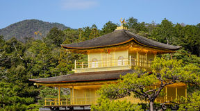 Top of the Kinkaku temple in Kyoto, Japan. Kinkaku-ji, officially named Rokuon-ji, is a Zen Buddhist temple in Kyoto, Japan Stock Photos