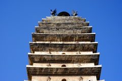 The top of the Kinmen and Matsu chicken tower. China `s Kunming, Yunnan, Kinmen and Matsu chicken, the top of the tower Royalty Free Stock Image