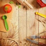 The top kitchen royalty free stock photo