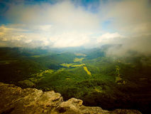 Top of the Knob. On Mcafee`s Knob on the Appalachian Trail, VA Royalty Free Stock Images