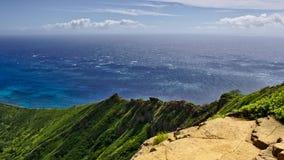 Top of Koko head on Oahu, Hawaii Royalty Free Stock Photos