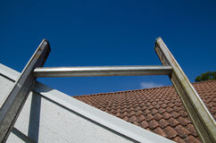 Top of a ladder Royalty Free Stock Image