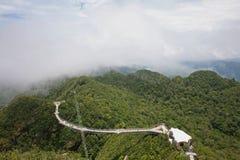 Langkawi Skybridge from above Royalty Free Stock Image