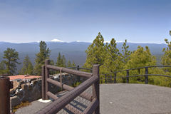 Top of Lava Butte viewpoint Oregon. Royalty Free Stock Image