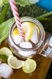 Top of lemon juice mug Royalty Free Stock Image